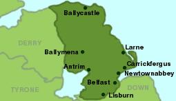 County Antrim in Ireland