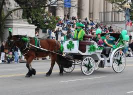 St Patricks Day Parade Horse drawn cart