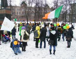 St. Patrick's Day in Russia
